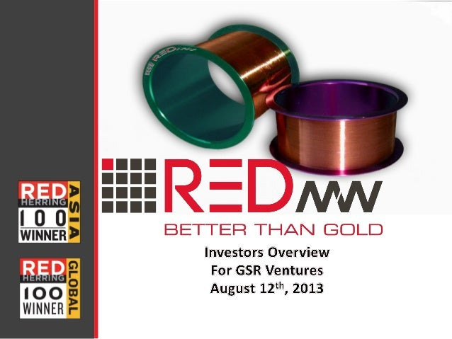 www.redmicrowire.com Topics RED Micro Wire  Intro Market Potential Global Reach:  The company  Ownership structure  Ma...