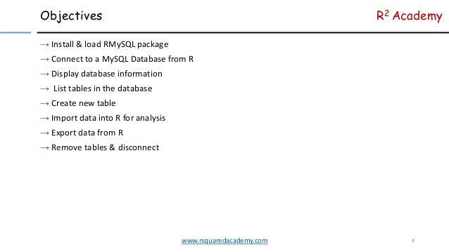 RMySQL Tutorial For Beginners