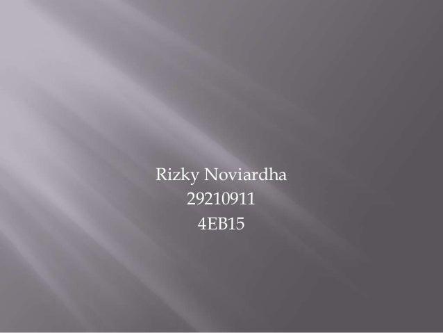 Rizky Noviardha 29210911 4EB15