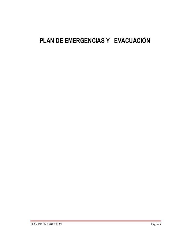 Plantilla plan de emergencias comercplaya