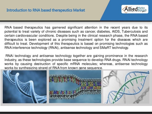rna based therapeutics This report examines the 'global rna-based therapeutics and vaccines market for the period 2019–2026 the primary objective of the report is to offer updates and information related to market .