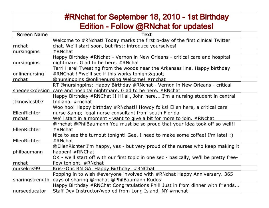 RNchat Transcript September 18, 2010