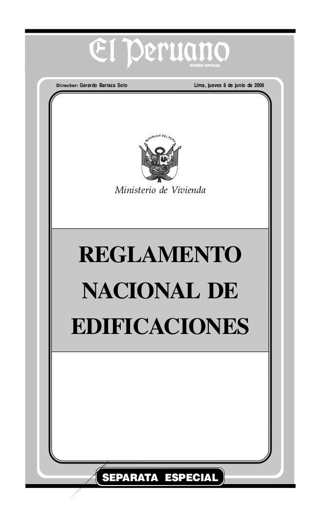 El Peruano Jueves 8 de junio de 2006 320471NORMAS LEGALES R EPUBLICA DEL PERU SEPARATA ESPECIAL Director: Gerardo Barraza ...