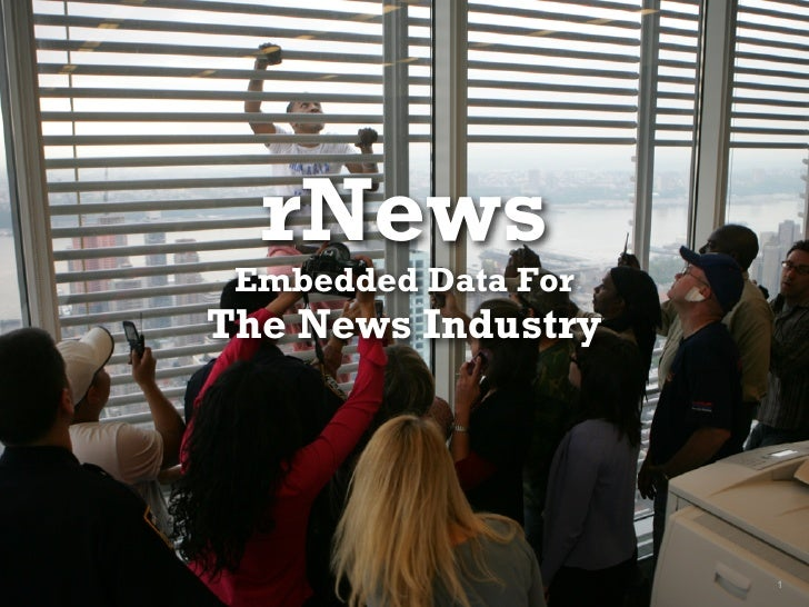rNews Embedded Data ForThe News Industry                     1