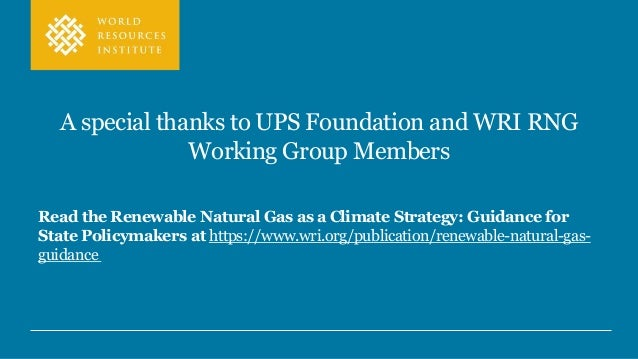 The Role of Renewable Natural Gas in State Climate Policy