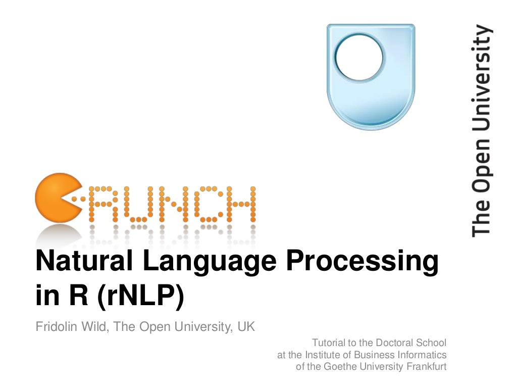 Natural Language Processing in R (rNLP)