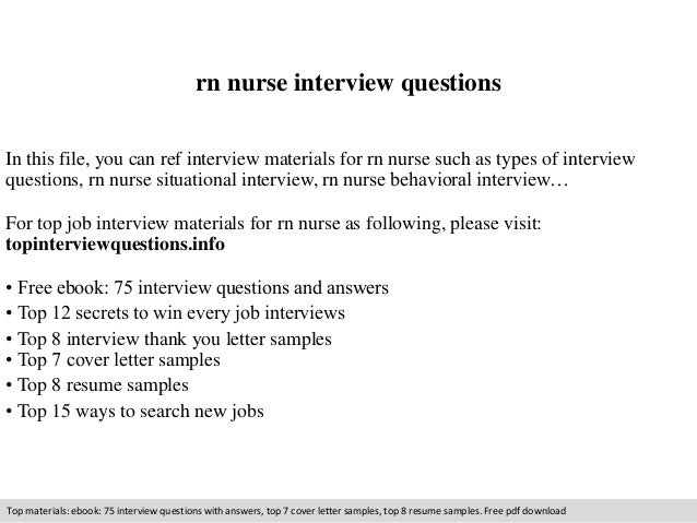 Rn nurse interview questions
