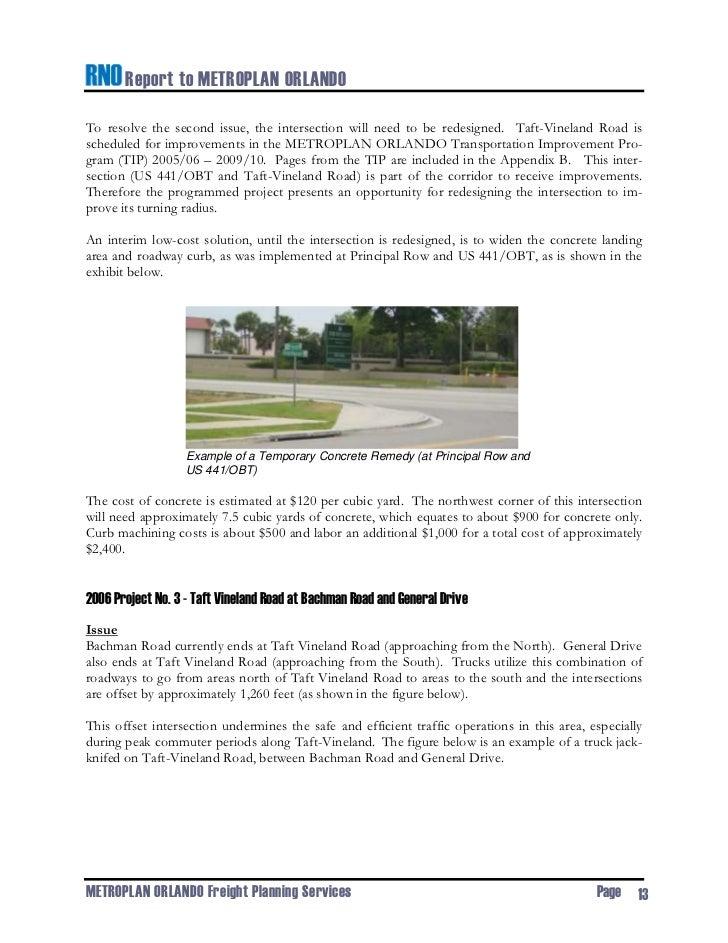Rno report to metroplan freight transportation improvement