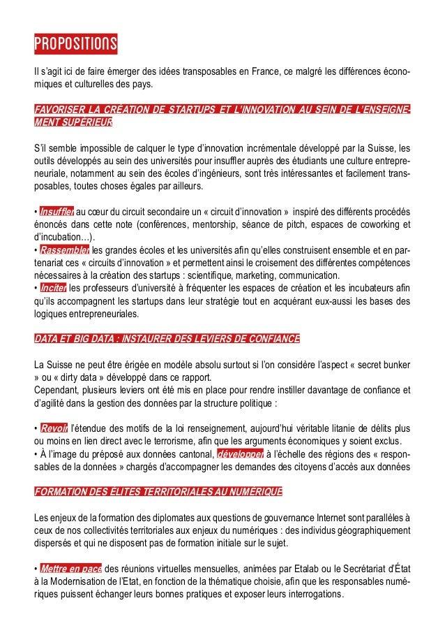 Propositions Il s'agit ici de faire émerger des idées transposables en France, ce malgré les différences écono- miques et ...