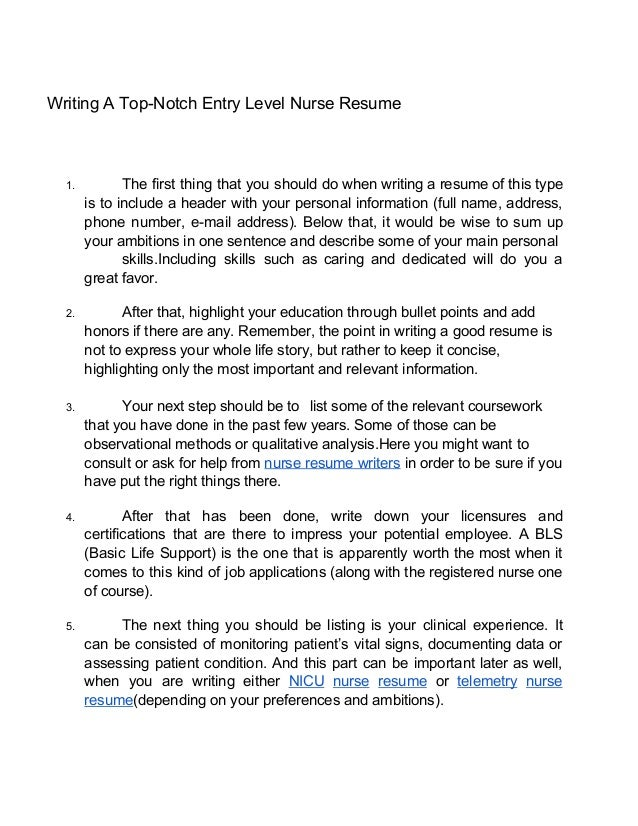 3 - Nurse Resume Tips
