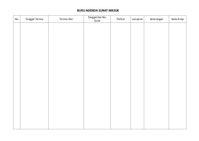 Format Buku Agenda