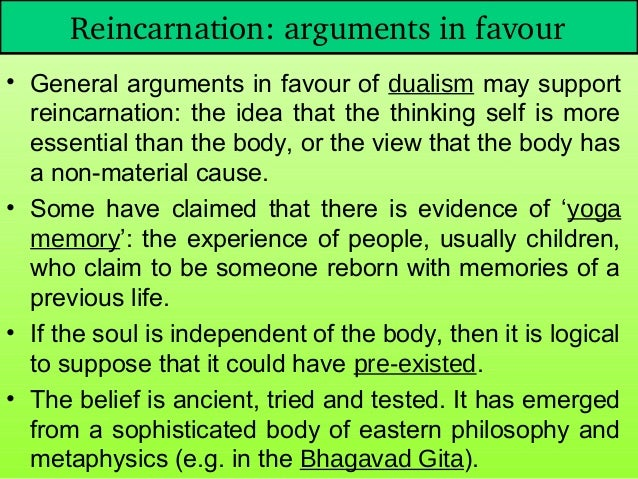 thesis reincarnation Reincarnation essays reincarnation is the idea that once we die, we will come  back to this earth in another form we may still be humans, we could be animals, .