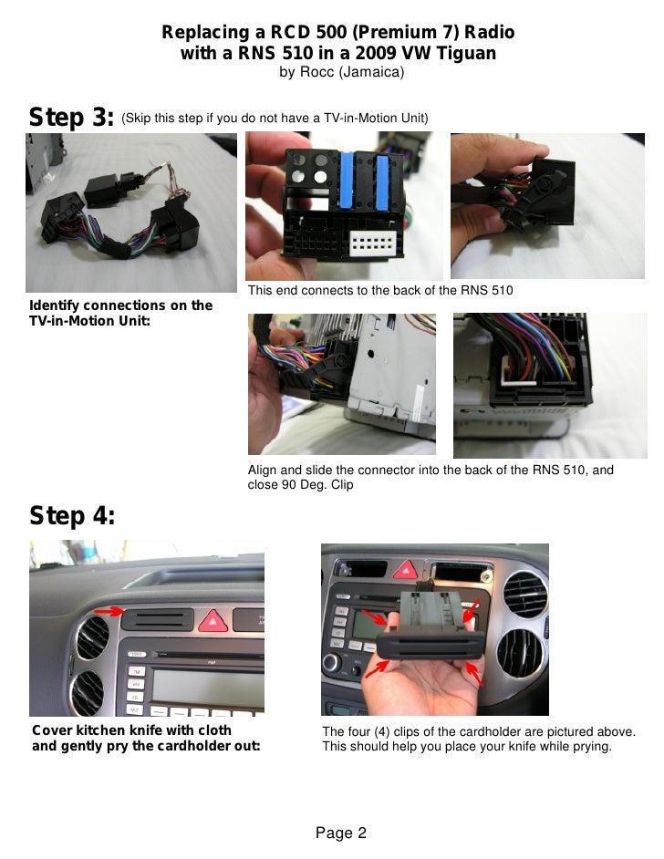 Rns 510 Vw T Iguan Installation Guide
