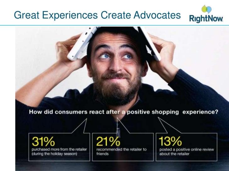 Great Experiences Create Advocates<br />
