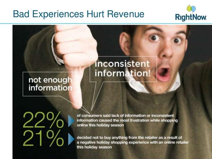 Bad Experiences Hurt Revenue<br />
