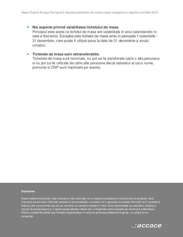 Noutati privind normele de aplicare a Legii 142/1998 privind acordarea tichetelor de masa Slide 3