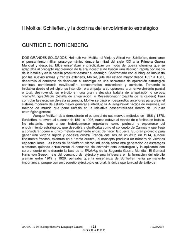 II Moltke, Schlieffen, y la doctrina del envolvimiento estratégico GUNTHER E. ROTHENBERG DOS GRANDES SOLDADOS, Helmuth von...