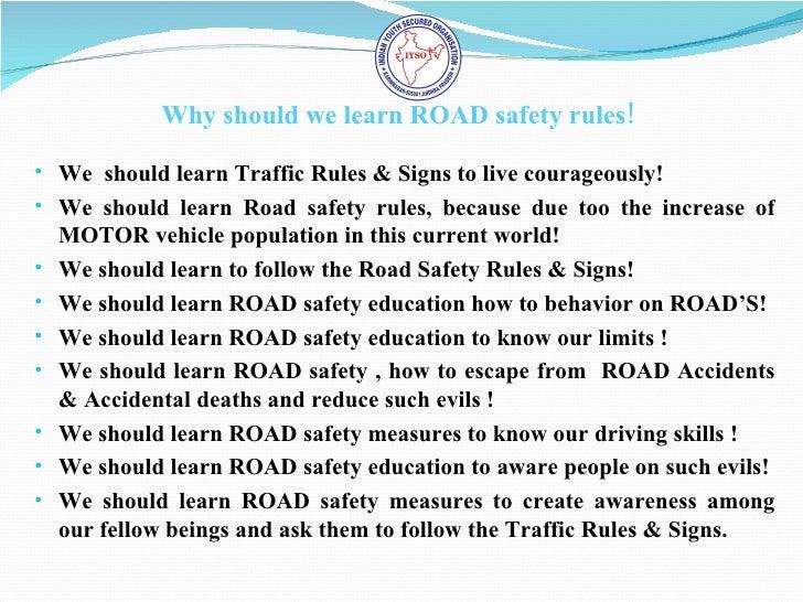obeying traffic rules essay