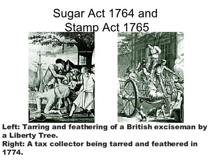 Sugar and stamp act