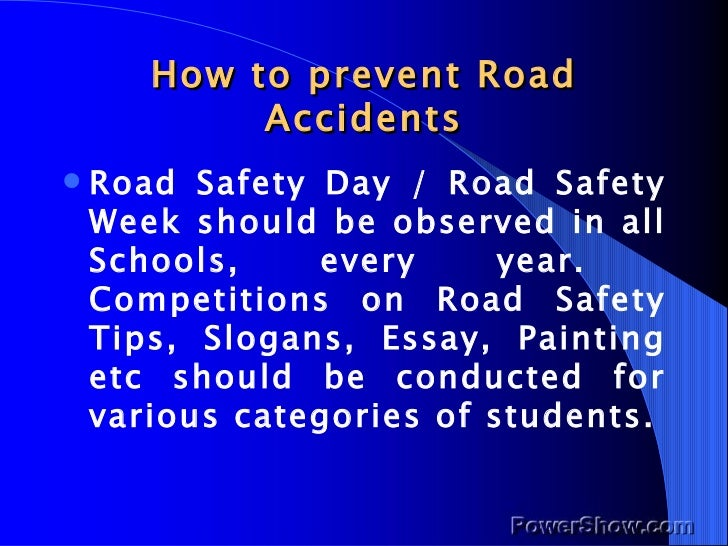 the road accident essay