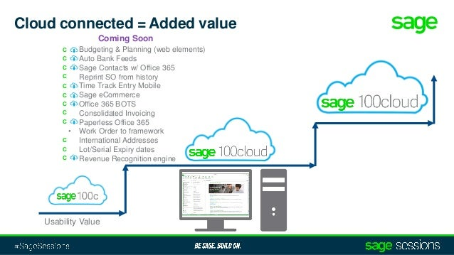 Sage 100 and Sage 100cloud Roadmap