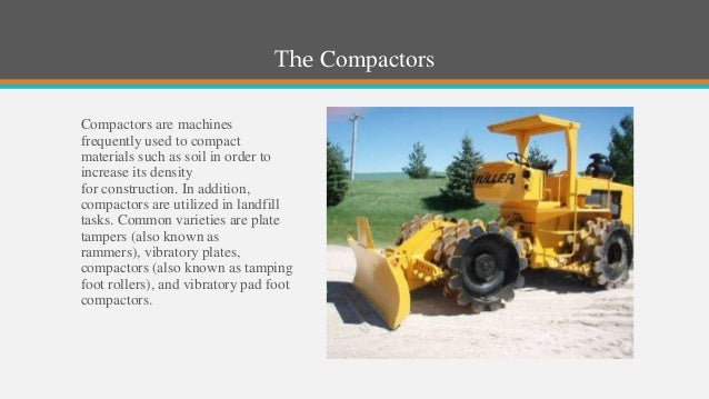 road construction equipment list pdf