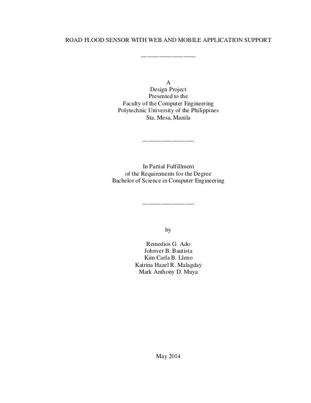 flood detector thesis New and unique thesis titles and capstone project ideas for information technology new and unique thesis titles and capstone  gas leakage detector.