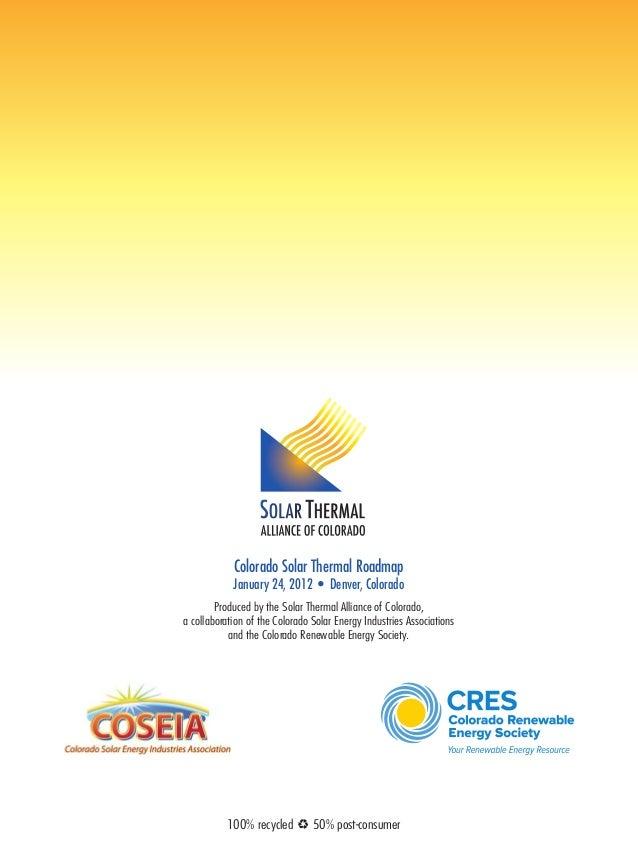 Colorado Solar Thermal Roadmap - Roadmap colorado