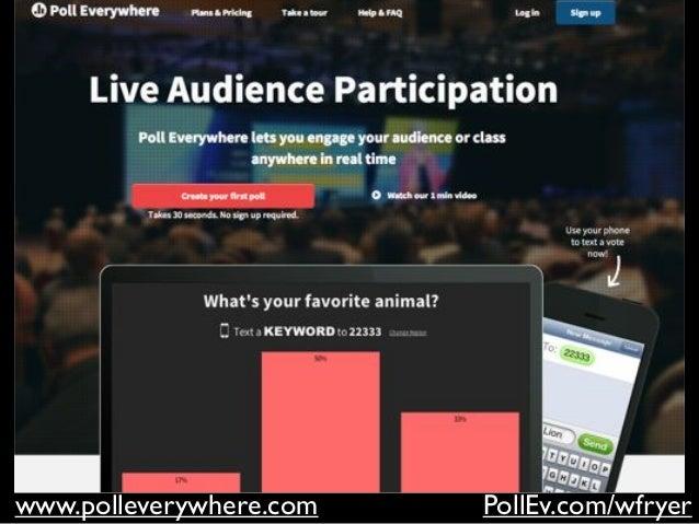 www.polleverywhere.com PollEv.com/wfryer