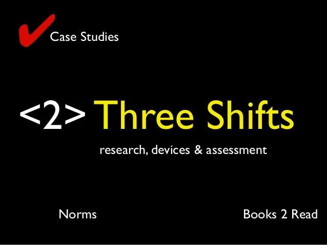 <2> Three Shifts research, devices & assessment ✔Case Studies Books 2 ReadNorms