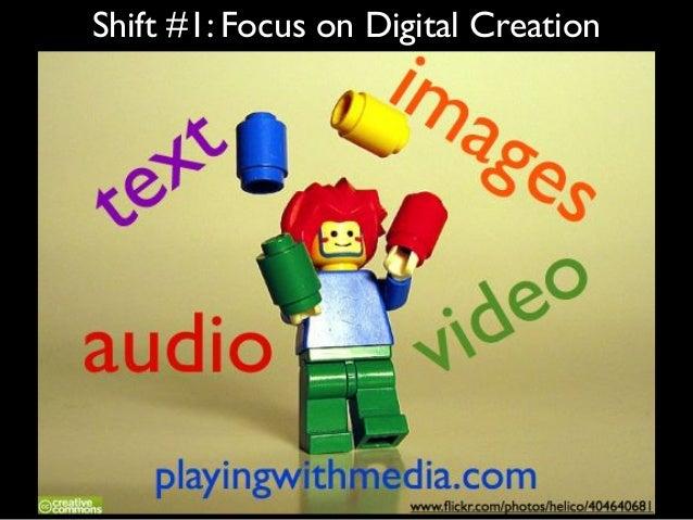 Shift #1: Focus on Digital Creation