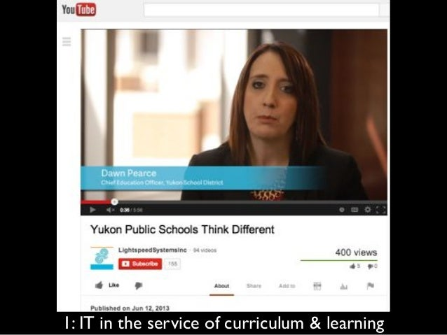 2: partnership between IT, curriculum, PD & administration