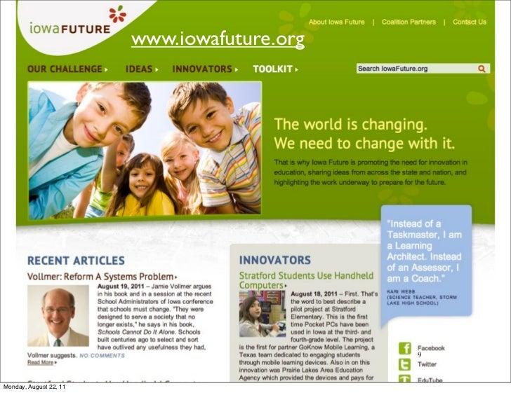 www.iowafuture.org                                             9Monday, August 22, 11