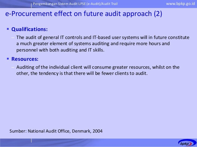 impact of procurement audit Procurement audits carried out revealed non –compliance with  with the public  procurement law and their impact on procurement performance with special.