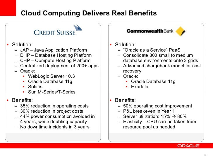 Summary <ul><li>From Consolidation to Private PaaS </li></ul><ul><li>Exadata and Exalogic as the Foundation for Private Pa...