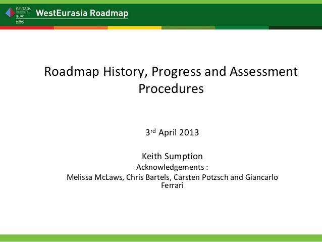 Roadmap History, Progress and Assessment              Procedures                         3rd April 2013                   ...