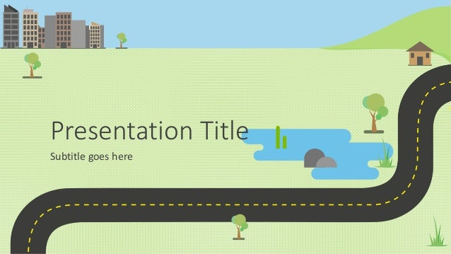 animated powerpoint presentation template roadmap infographic