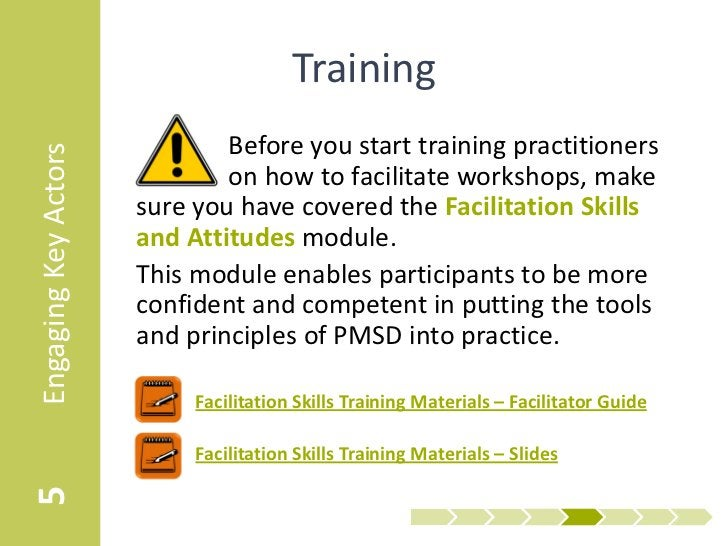 Training                              Before you start training practitionersEngaging Key Actors                          ...
