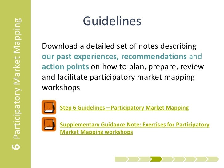 6 Participatory Market Mapping                Guidelines                                 Download a detailed set of notes ...