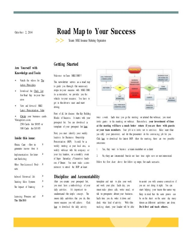 Octo be r 2, 2014 Road Map to Your Success  Obama Care - How to  generate income from it  2  Implementat io n for Inter-ne...