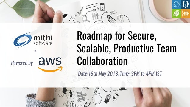 Roadmap for Secure, Scalable, Productive Team Collaboration Date:16th May 2018, Time: 3PM to 4PM IST + Powered by