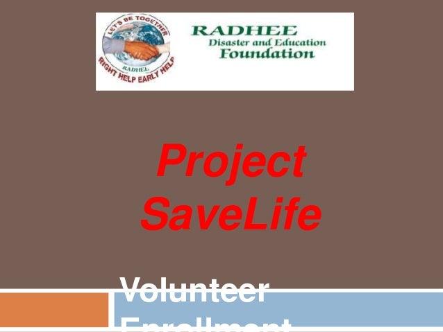 Project SaveLife Volunteer