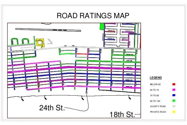 Ocean City NJ Road Rating Map - Nj road map