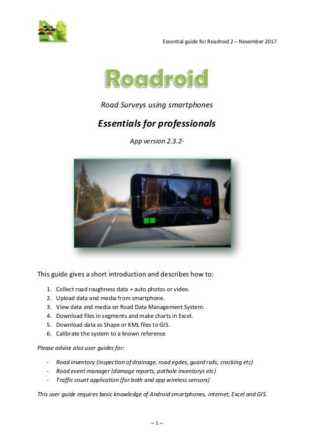 roadroid user guide version 2 3 2 pro 0 9 incl calibration appendix rh slideshare net Kindle Fire User Guide User Guide Icon