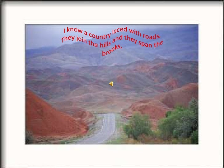 Poem---Roads by Amy Lowell