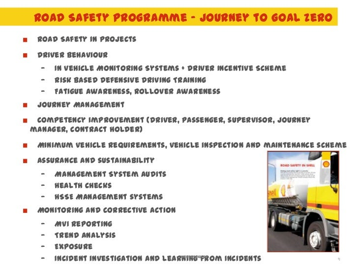 Road Safety In Shell Journey To Goal Zero