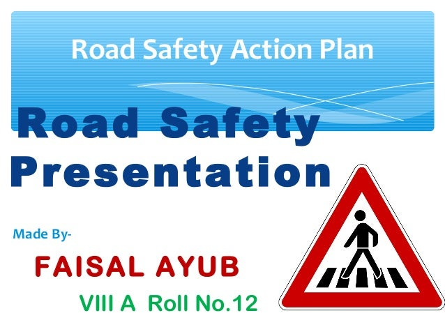 Road safety tips powerpoint template, powerpoint slides.