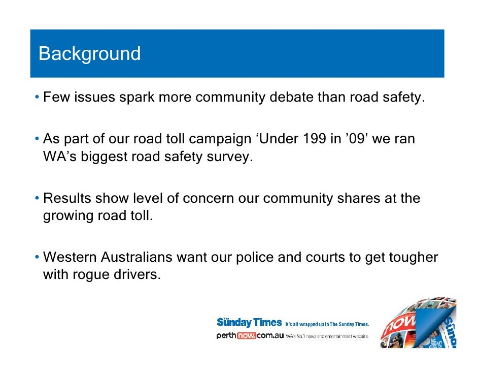Road accident survey