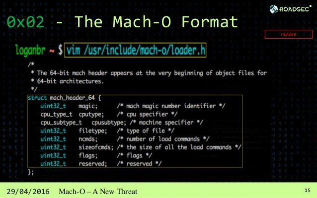 1629/04/2016 Mach-O – A New Threat 0x02 - The Mach-O Format LOAD_COMMANDS