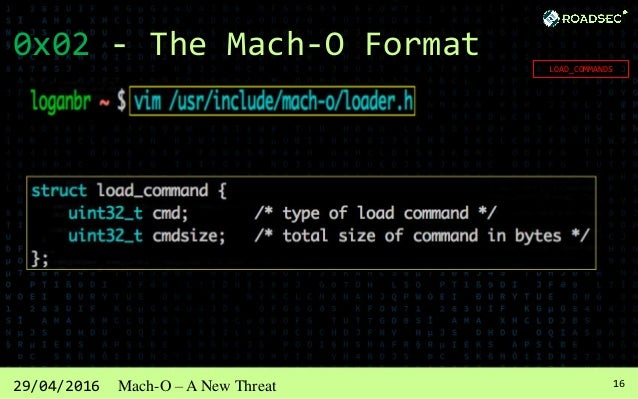 1729/04/2016 Mach-O – A New Threat 0x02 - The Mach-O Format SECTIONS